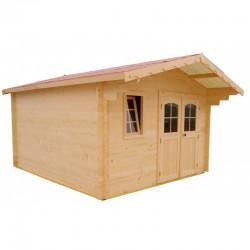 哈布里塔实木花园庇护所 16 平方米和 28 毫米木板