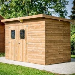 哈布里塔实木的瑟马布里花园避难所 19.69 平方米与钢屋顶