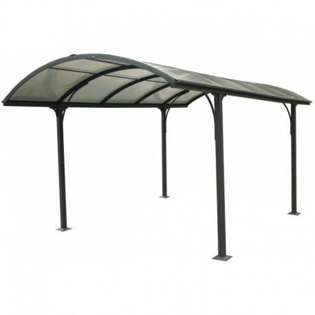 Carpot 1 car 3.05x4.85m aluminum and polycarbonate 6mm ANTI-UV Habrita