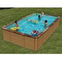 Pool Holz Zodiac Azteck rechteckig Boden 690 x 365