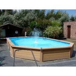 Swimmingpool Zodiac Azteck Oval Bodenfrei 400 x 730