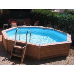 城市泳池普罗科皮 XL 木 650 x 350
