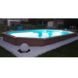 Zodiac Azteck Oval Semi-Buried Pool 400 x 730
