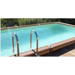 Zodiac Azteck semi-buried rectangular pool 495 x 244