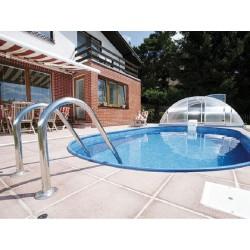 Piscina Oval Ibiza Família 800 Luxuoso Enterrado