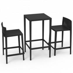 Set Spritz table and 2 stools Vondom seat height 76cm black