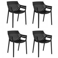 Lot de 4 fauteuils Vondom Spritz noir
