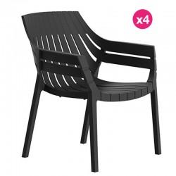 Lot de 4 fauteuils Vondon Spritz bronze