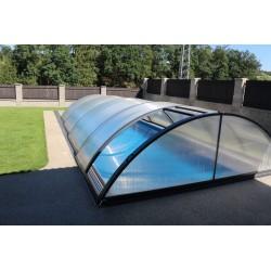 Refugio de piscina en Aluminio y Policarbonato 332 x 642 x 111