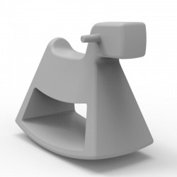 Chaise à bascule Rosinante Vondom Grand modèle gris acier