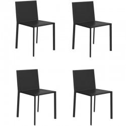Lot de 4 chaises Vondom Quartz noir