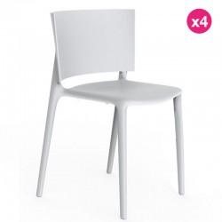 Lot de 4 chaises Vondom Africa blanc