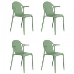 Lot de 4 fauteuils Vondom Brooklyn pickle