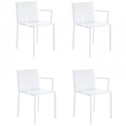 Lot de 4 fauteuils Vondom Quartz blanc