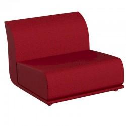 Fauteuil central Vondom design Suave en tissu déperlant rouge Grenat 1046