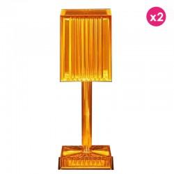 Lot de 2 Lampes Gatsby Prisma Ambre sans fil Vondom Led