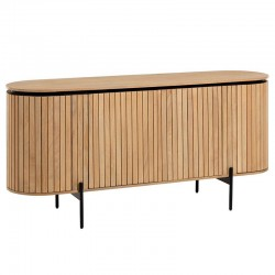Buffet ovale 170x80 bois naturel KosyForm