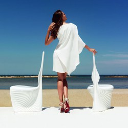 Jardim cadeira de empuxo - branco BIOPHILIA