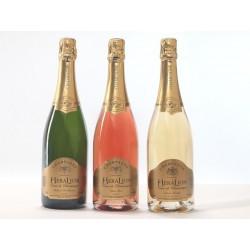 Champagne HeraLion Mix Sélection Eclat d'Or, Rosé,Vintage - 3 Blles