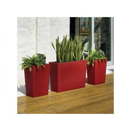 Macetas De Exterior Diseno De Bayseasons De Gratiano 50 Rojo - Macetas-de-exterior