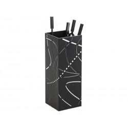 Servo fiamma nero satinato bianco interni design diciannove
