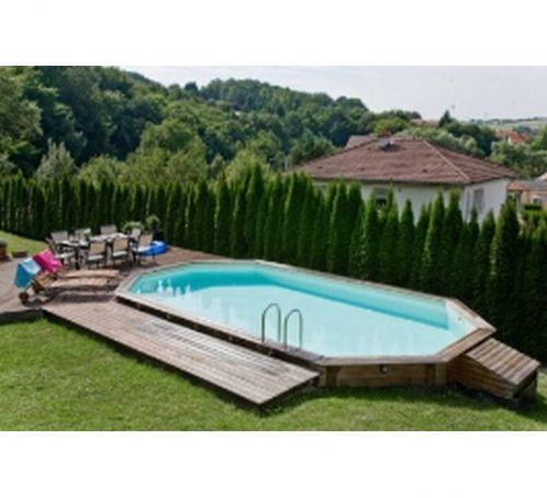 Swimmingpool holz  Swimmingpool Holz Jasmine 490x355xH130 U in EYSINS kaufen bei ...